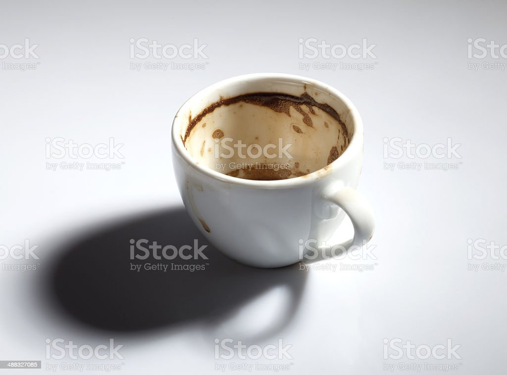 Dirty Coffee Cup stock photo