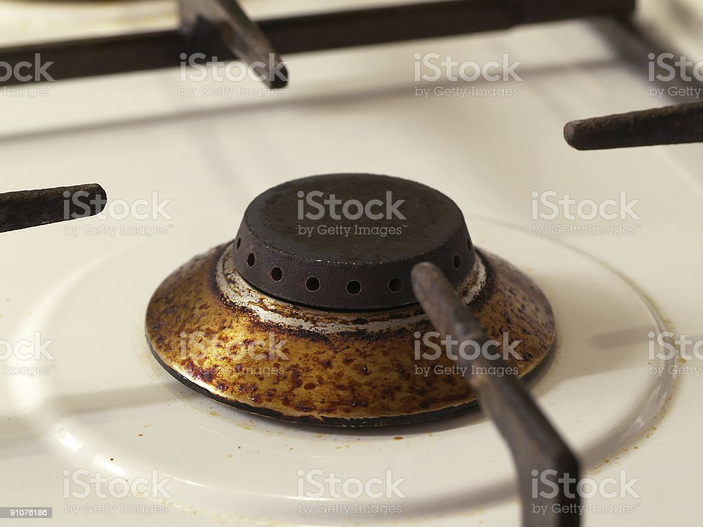 dirty cooker stock photo