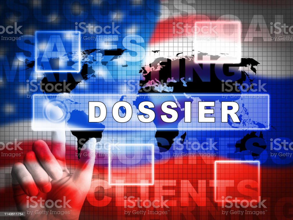 Dirty Dossier Flag Containing Political Information On The American President 3d Illustration royalty-free stock photo