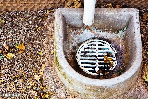 Outdoor domestic drain.