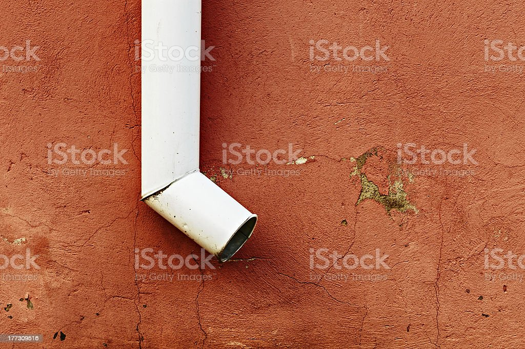 Dirty drainpipe royalty-free stock photo