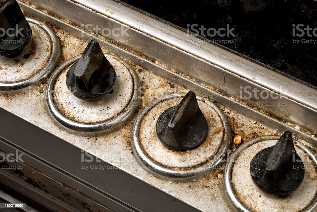 Dirty electric cooker royalty-free stock photo