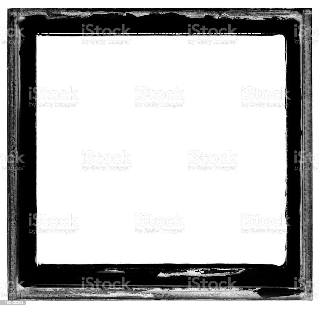 Dirty Emulsion Film Frame royalty-free stock photo
