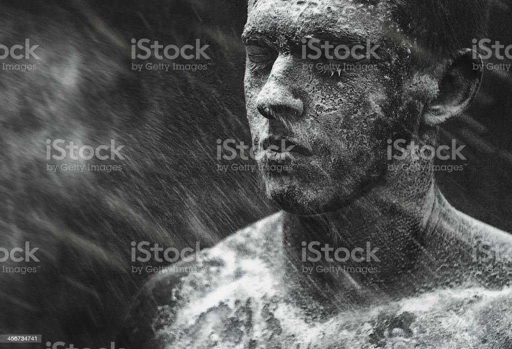dirty face (series) stock photo