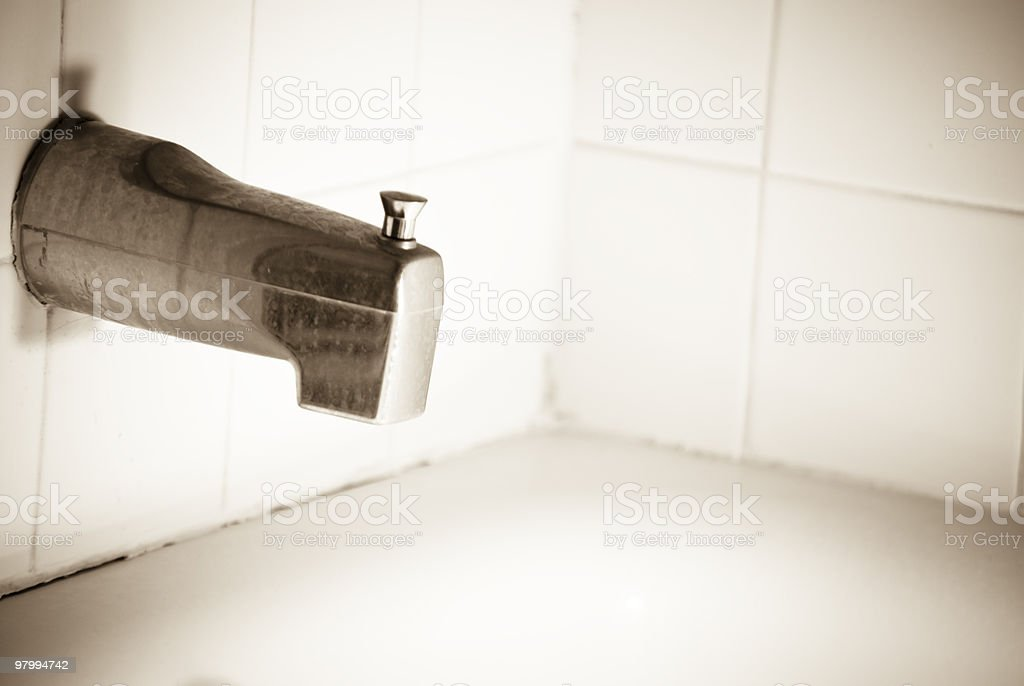 Dirty Faucet royalty-free stock photo