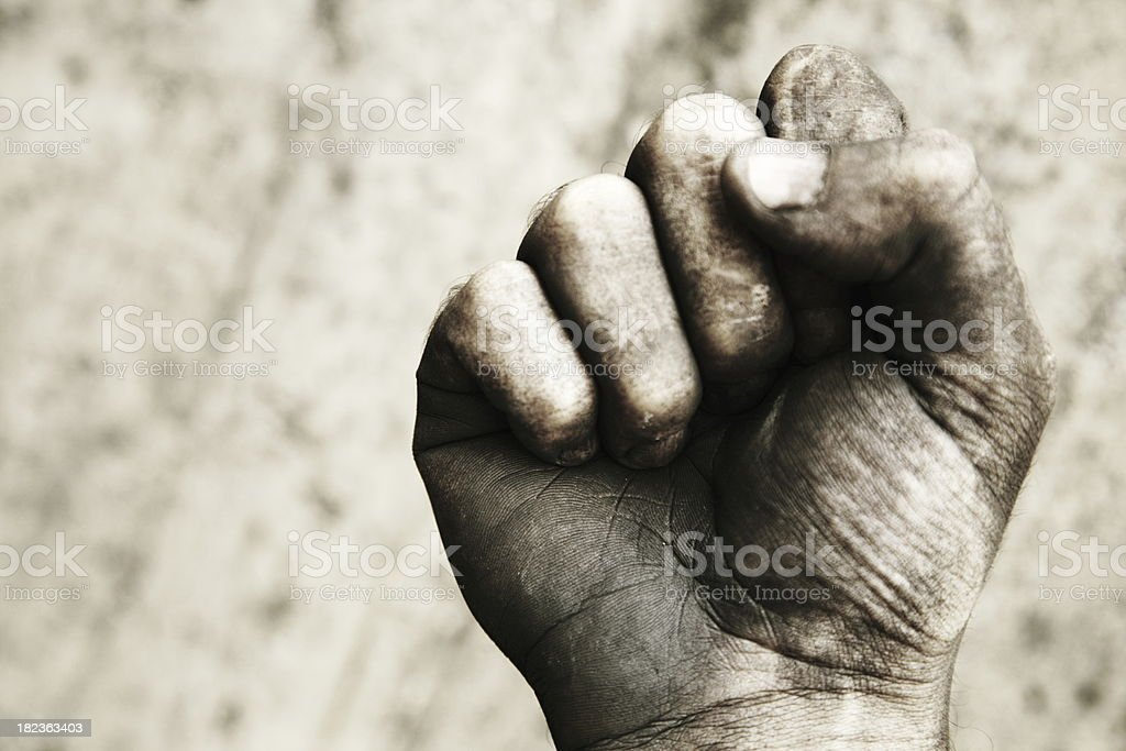 Dirty fist royalty-free stock photo