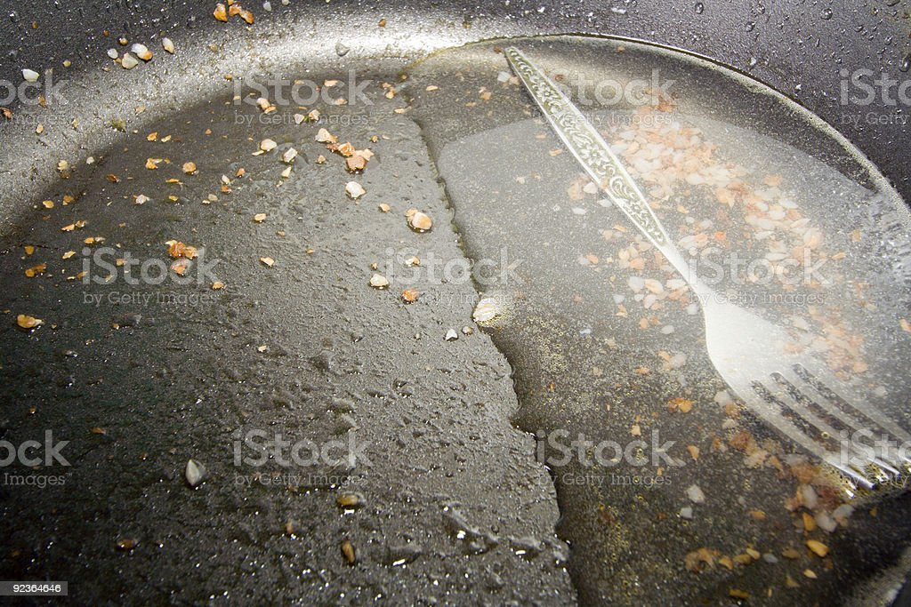 Dirty frying pan royalty-free stock photo