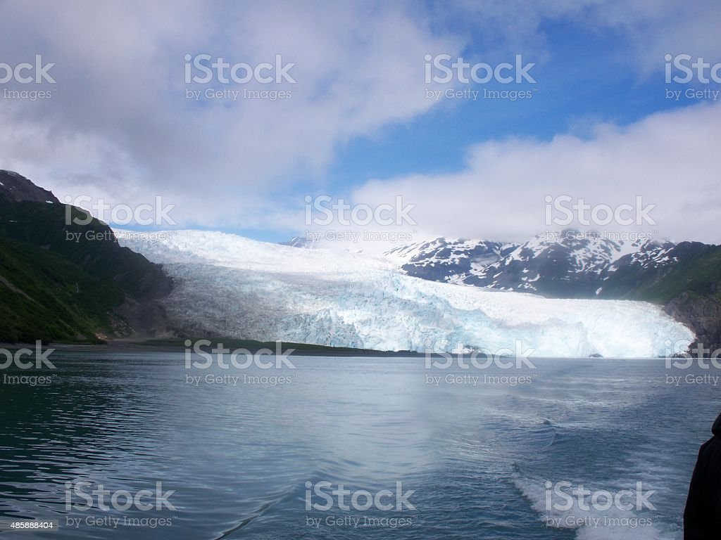 Dirty Glacier stock photo