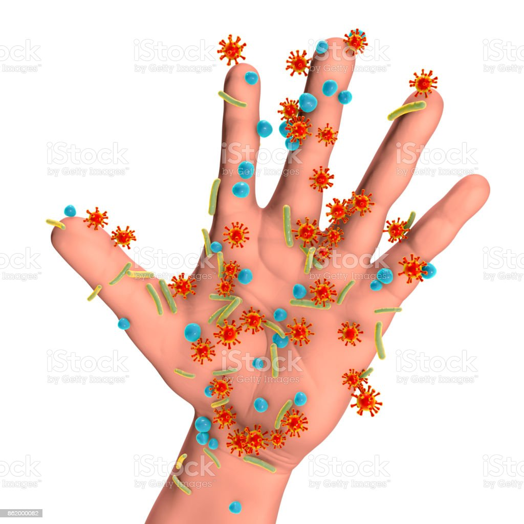 Dirty hands, conceptual image stock photo