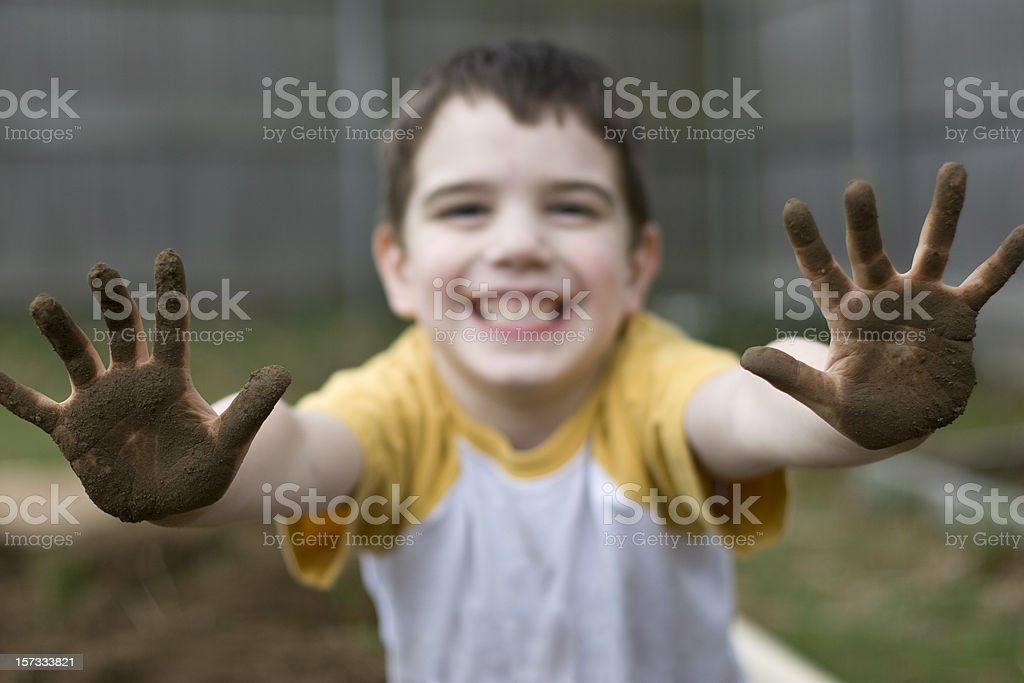 Dirty Hands royalty-free stock photo