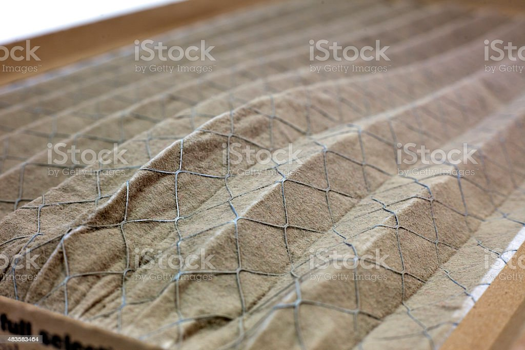Dirty Home Air Conditioner Filter stock photo