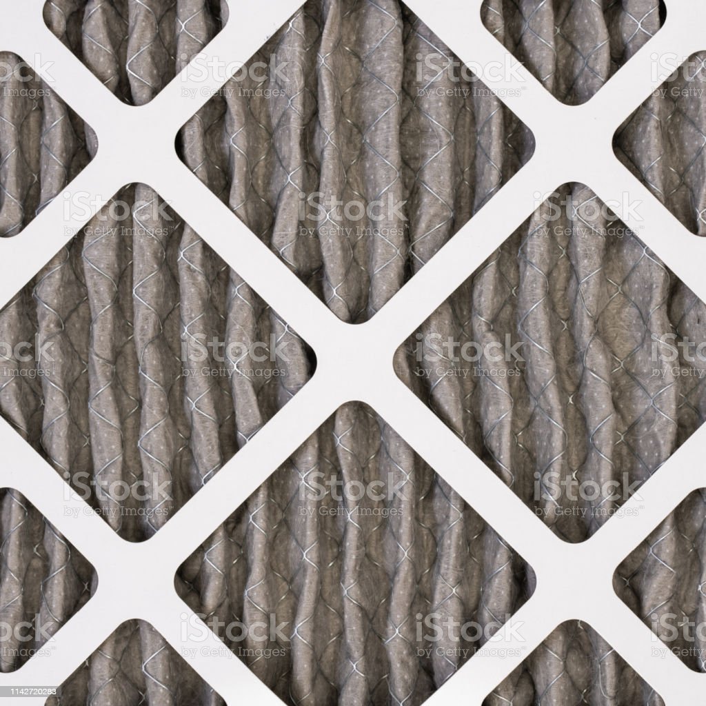 Dirty Home Air Filter stock photo