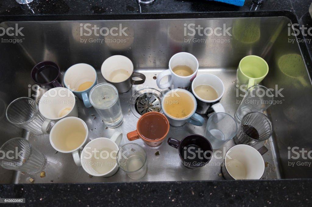 Dirty Kitchen Sink stock photo