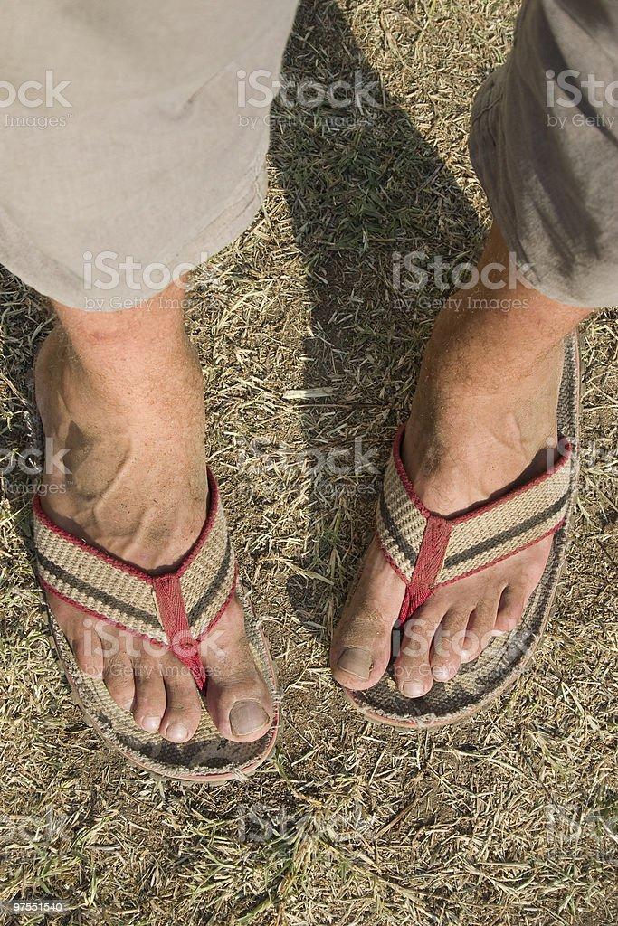 Sale jambes flipflops photo libre de droits