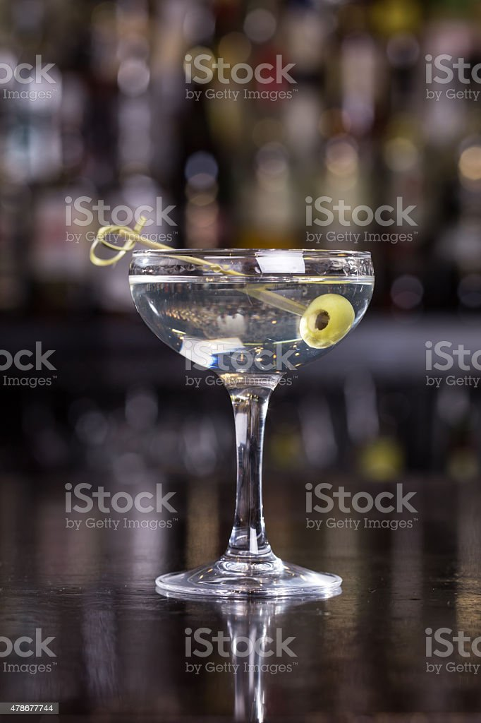 Dirty martini cocktail royalty-free stock photo