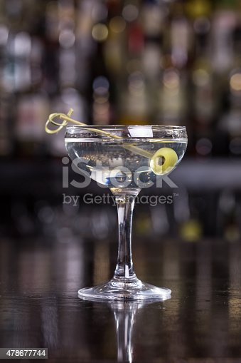 Dirty Martini Cocktail Stock Photo & More Pictures of 2015