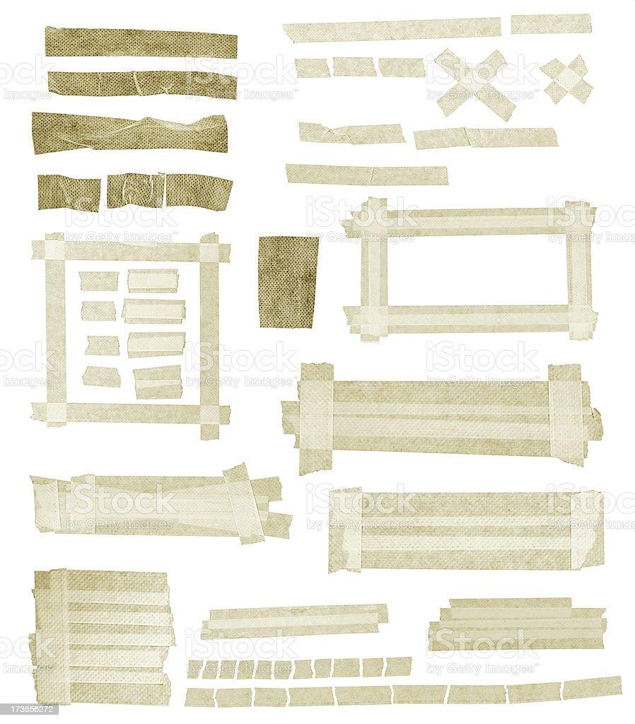 Dirty Masking tape royalty-free stock photo