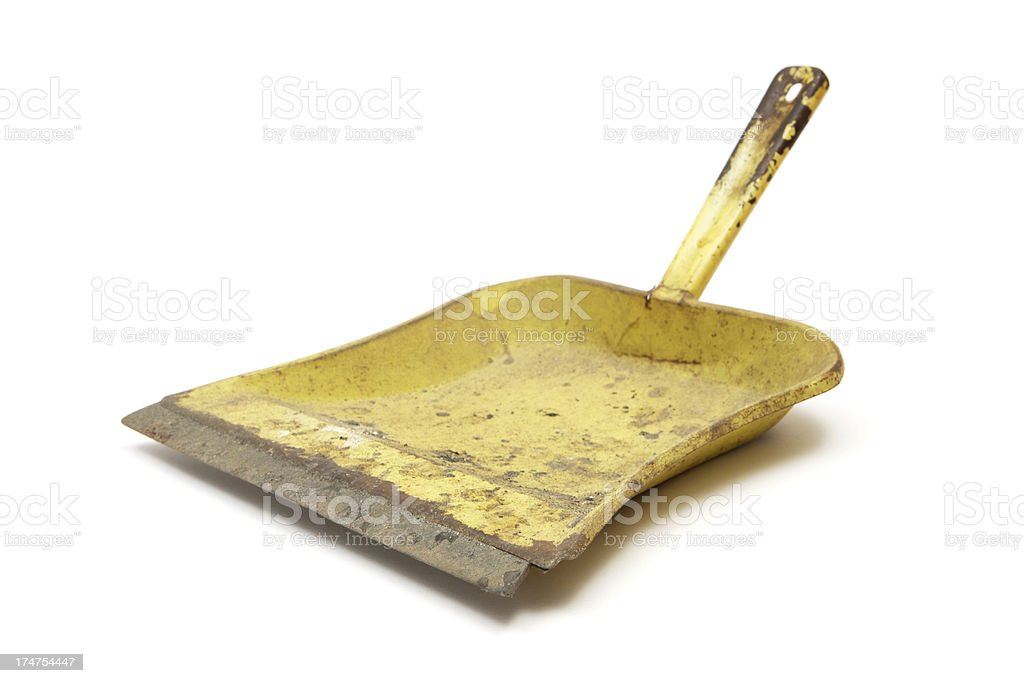 Dirty Metal Dustpan stock photo