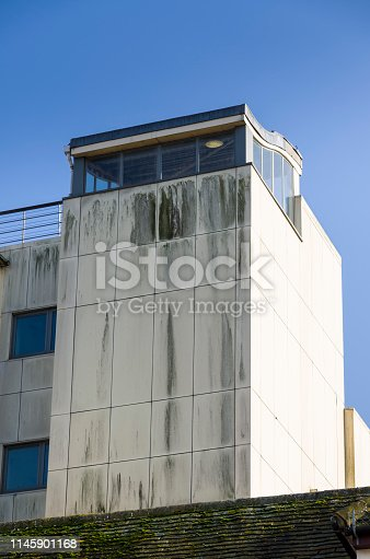 Dirty modern cladding on new building in Guildford