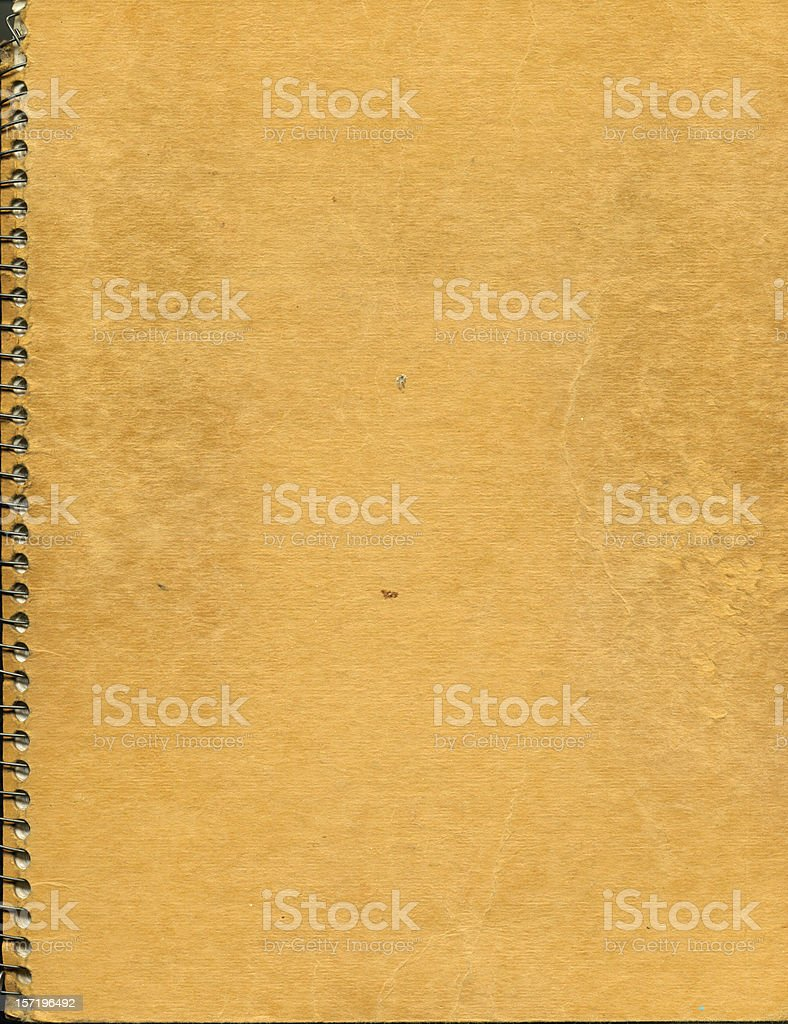 dirty notebook stock photo