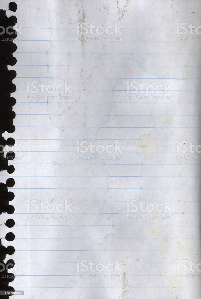 Dirty Notepaper royalty-free stock photo