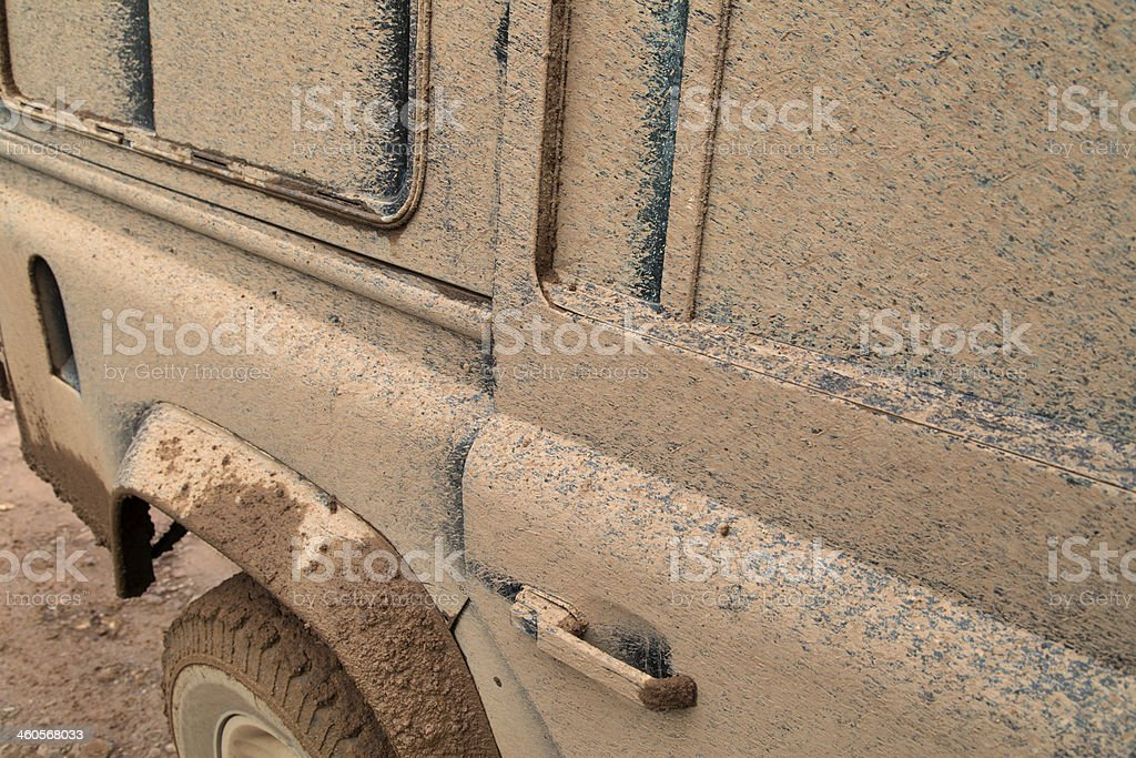 Dirty off road vehicle royalty-free stock photo