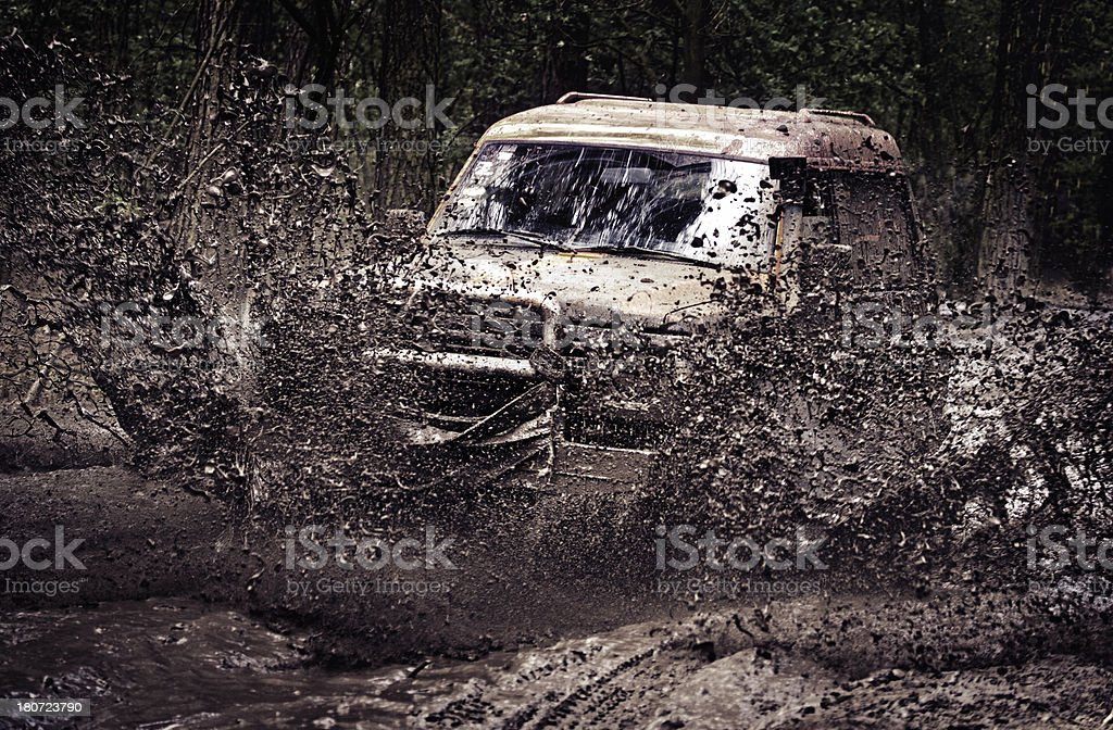dirty off-road race stock photo