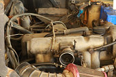 istock Dirty old car engine 1226895910