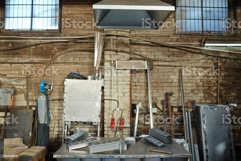 Dirty Old Factory Workshop For Furniture Production Stock ...