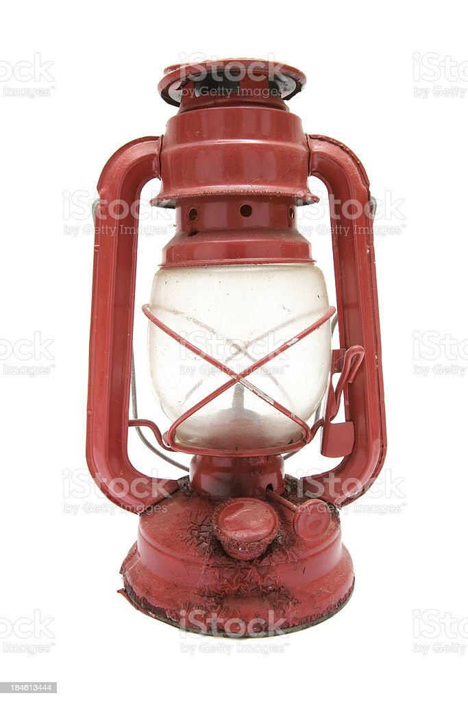 Dirty Old Oil Lamp Stock Photo