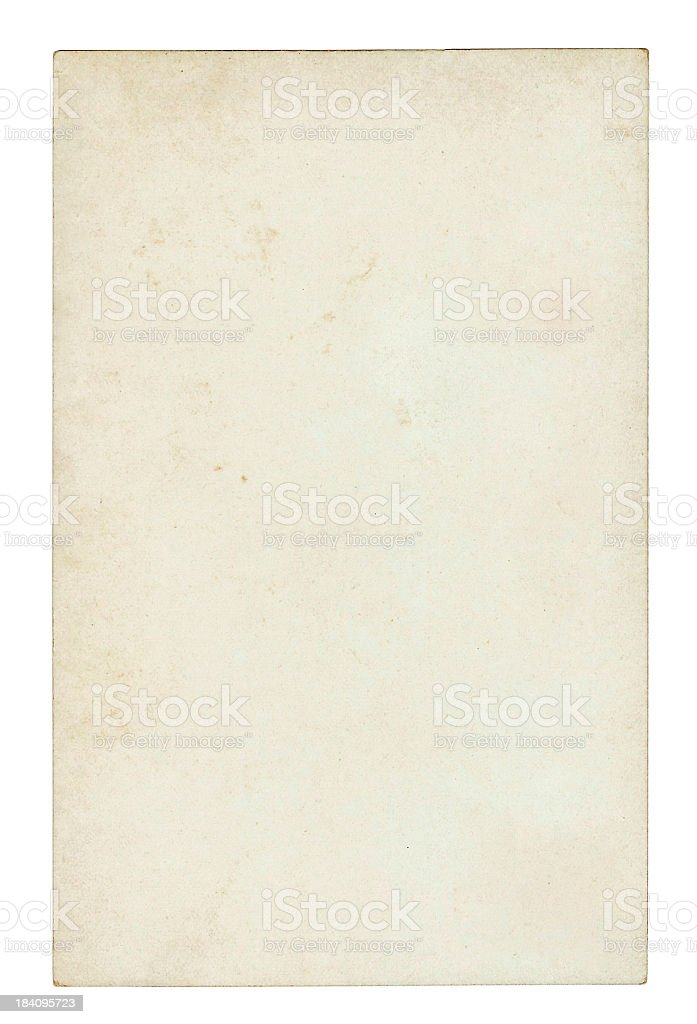 Dirty Old Paper - Early 1900's stock photo