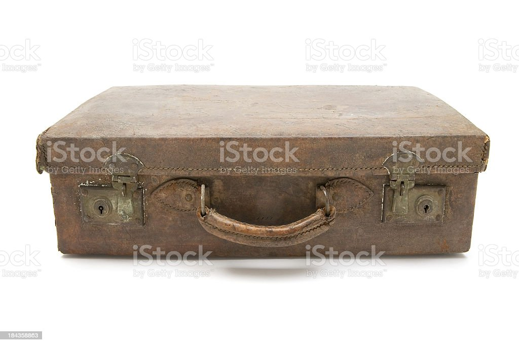 Dirty Old Suitcase royalty-free stock photo