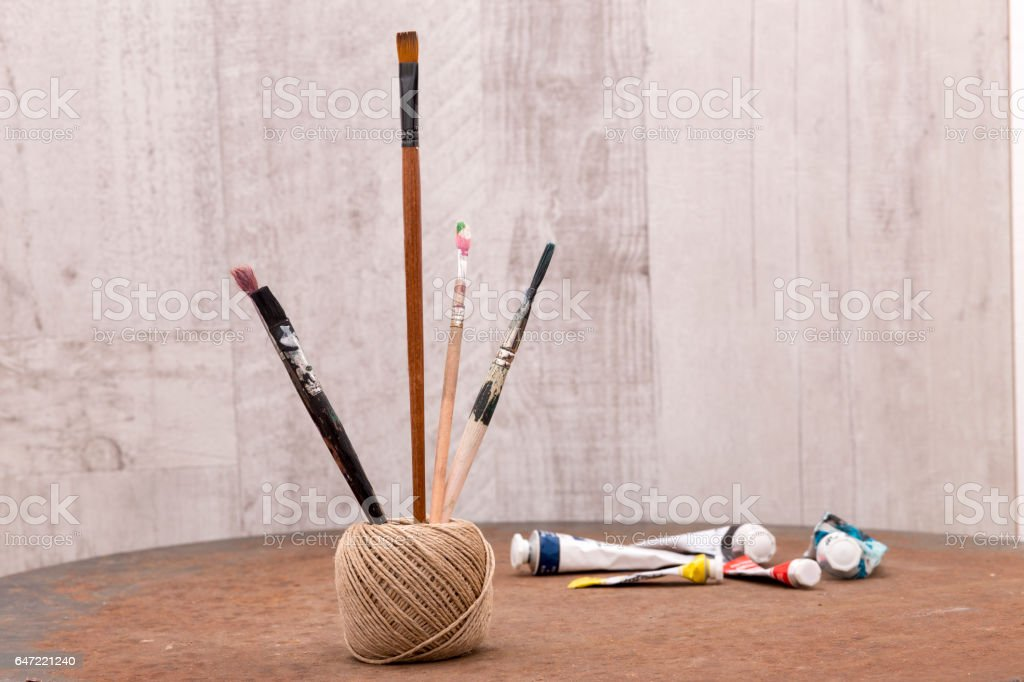 dirty paint dirty paint brush stock photo 647221240 istock