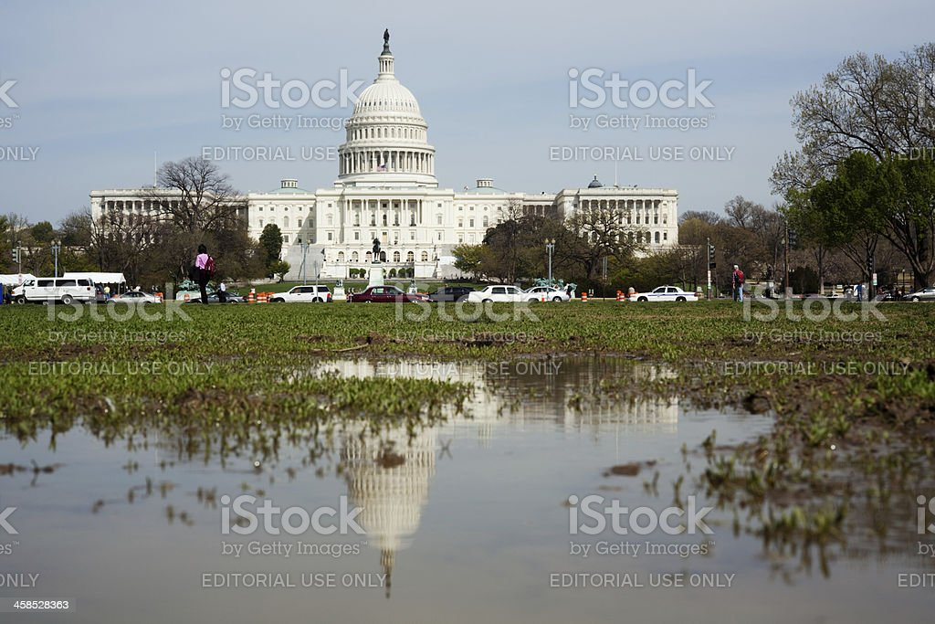 Dirty politics in Washington DC stock photo