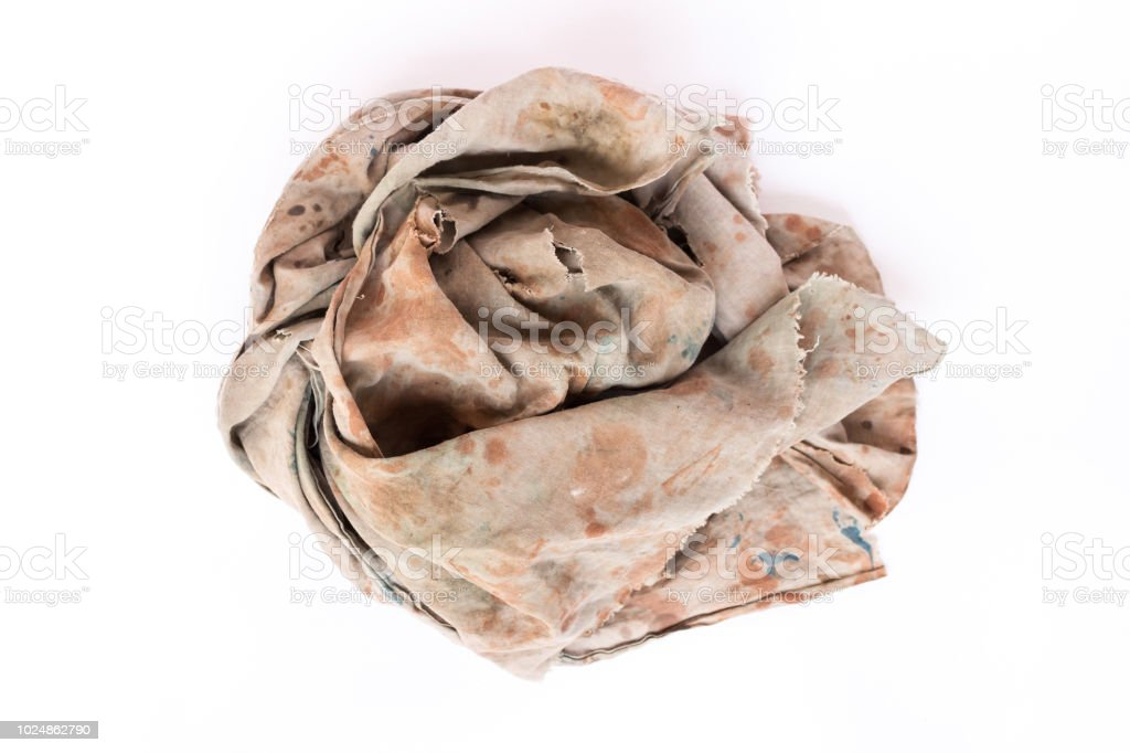 4e3b49197e7e5 Dirty Rag Isolated On White Background Stock Photo & More Pictures ...