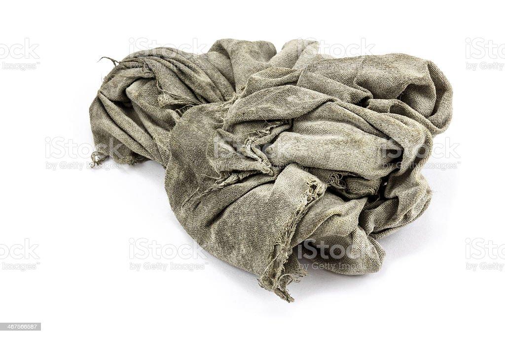 dirty rag stock photo