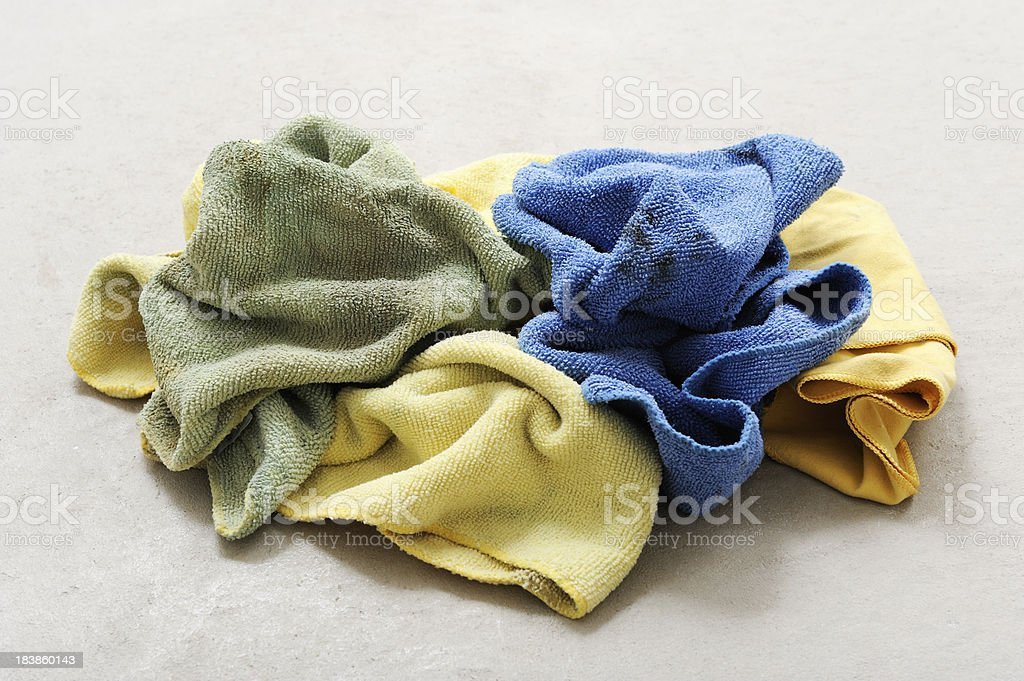 Dirty rags stock photo