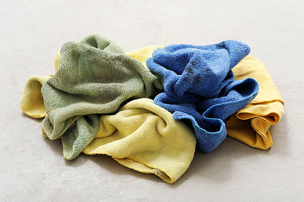 dirty rags - rag stock pictures, royalty-free photos & images