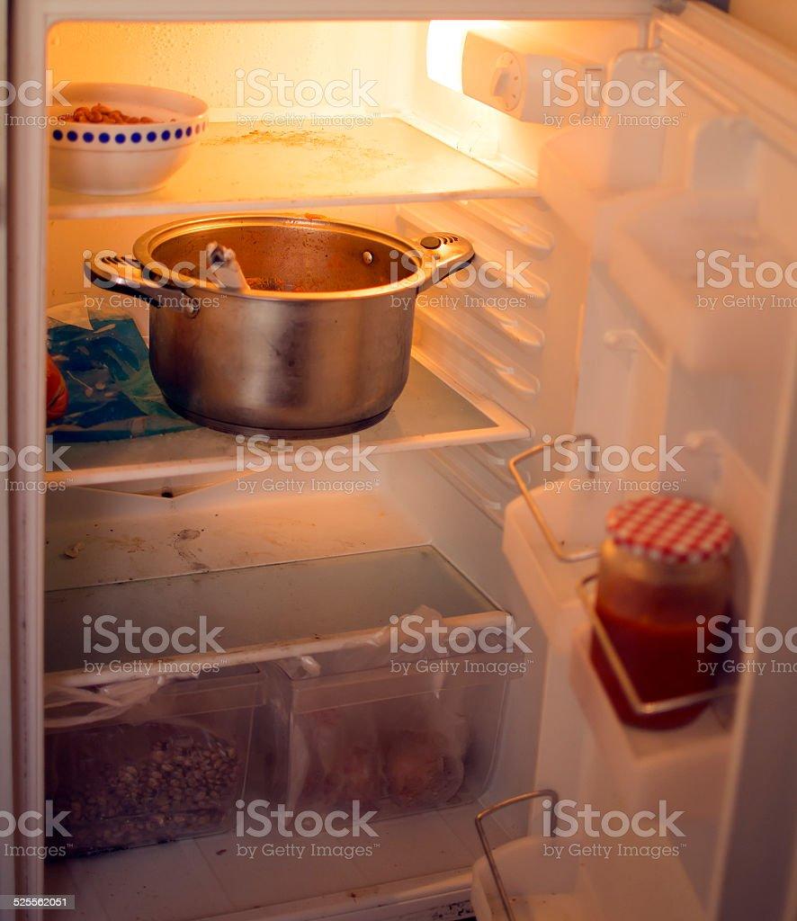 Dirty refrigerator stock photo