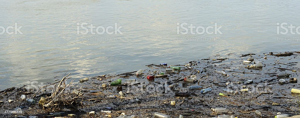 Dirty river royalty-free stock photo