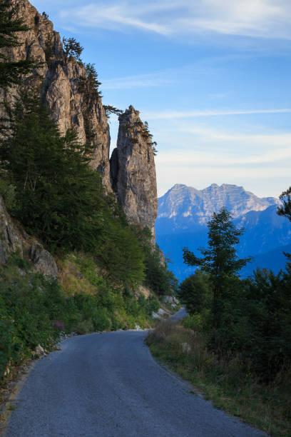 Dirty Road In Montenegro stock photo