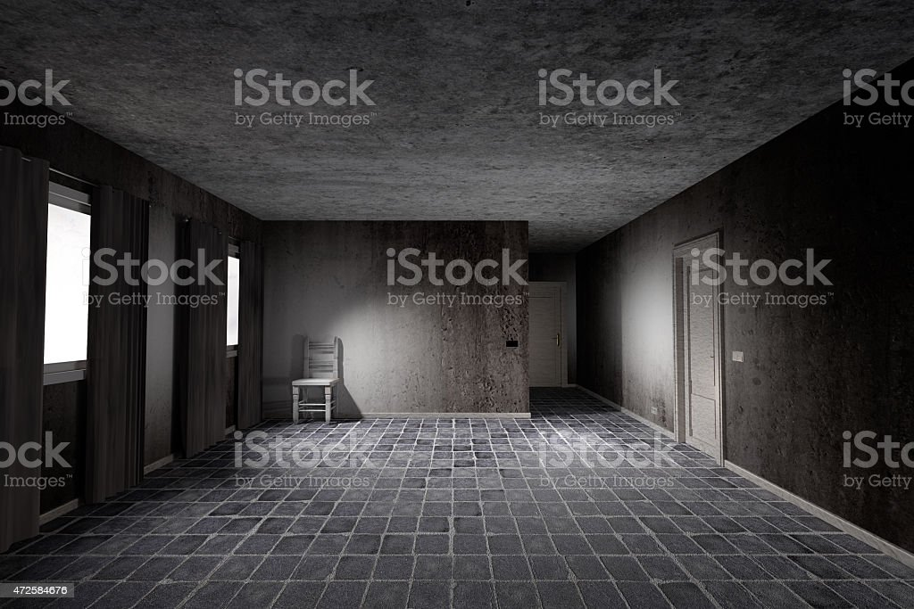 dirty room stock photo