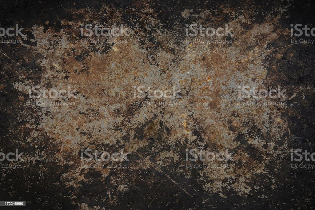 Dirty Rusty Pan royalty-free stock photo