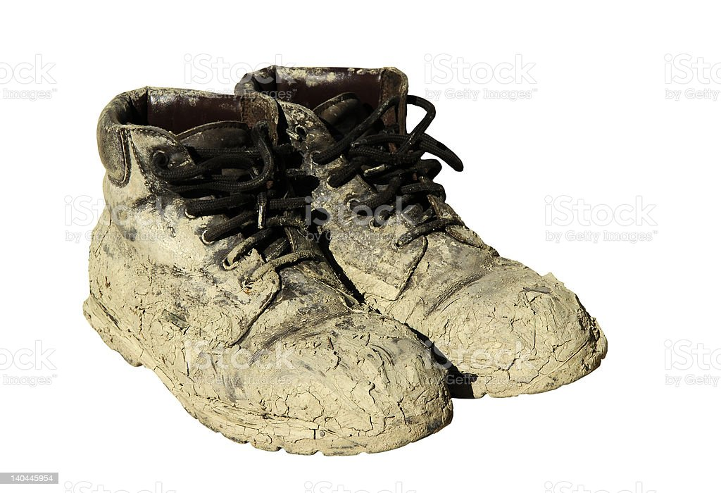 Dirty shoes royalty-free stock photo