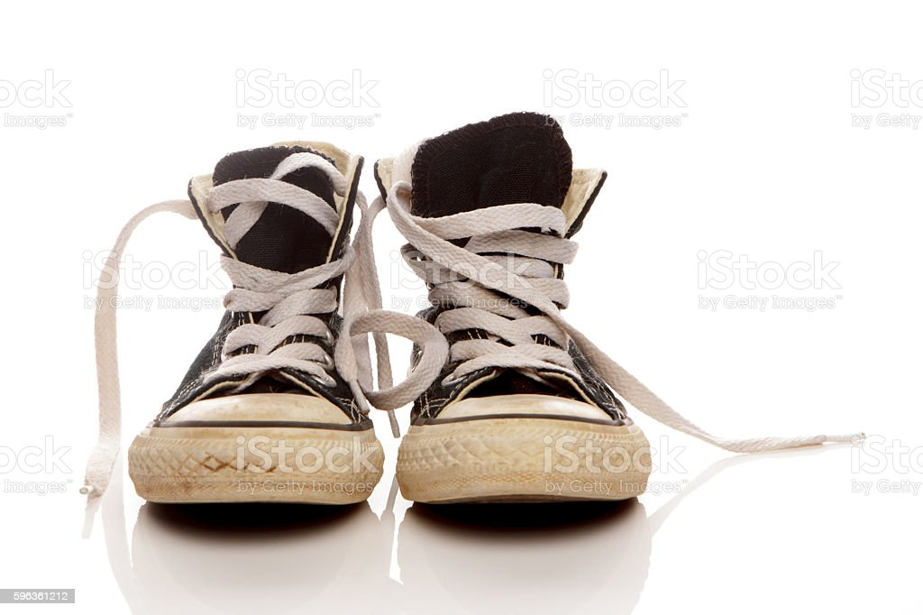 Dirty Sneakers royalty-free stock photo