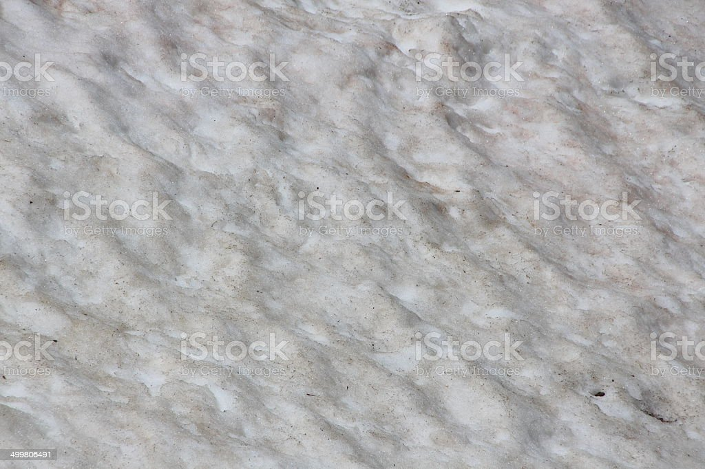 Dirty Snow with Dust of Sahara, Austrian Alps, Kühtai, Tyrol stock photo