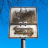 Dirty street signs