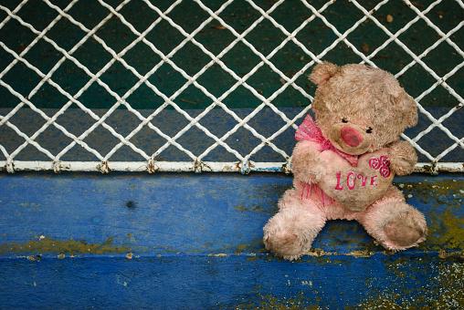 Dirty teddy bear