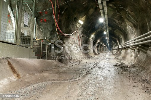 istock Dirty Tunnel portion with electric control panel 478343840