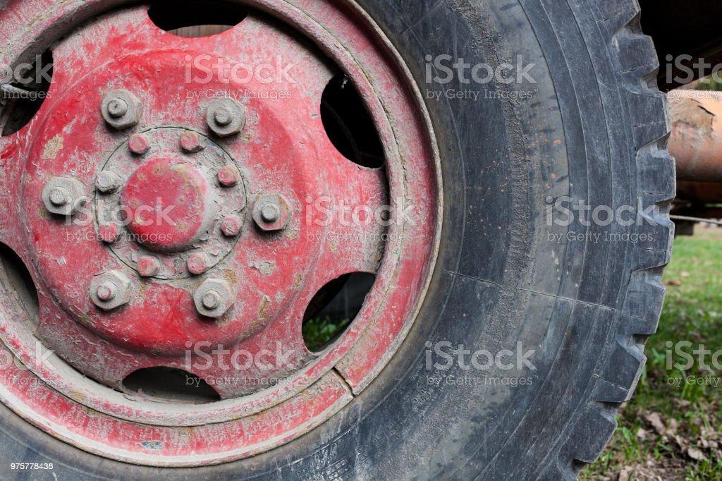 schmutzigen Reifen Nahaufnahme - Lizenzfrei Alt Stock-Foto